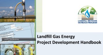 Image shows the cover of the LMOP LFG Energy Development Handbook.