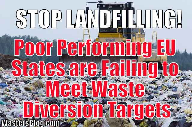 Poor Performing EU States are Failing to meet landfill waste reduction targets/ waste diversion targets.