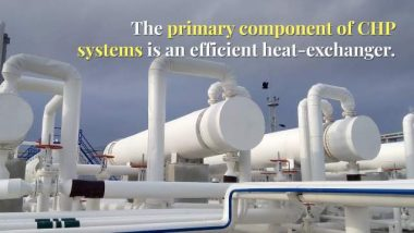 Image shows: CHP systems efficient heat exchanger.