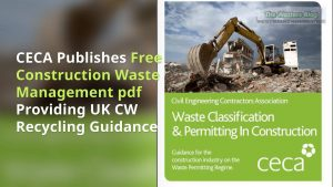 Image shows Construction waste management pdf cover.