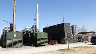 Image shows landfill gas equipment collecting and using biomethane.