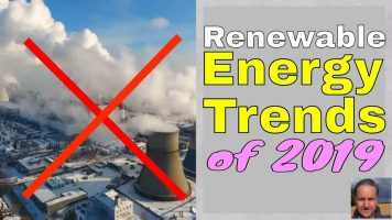 Image show the thumbnail for the 2019 Renewable Energy Trends trailer video.