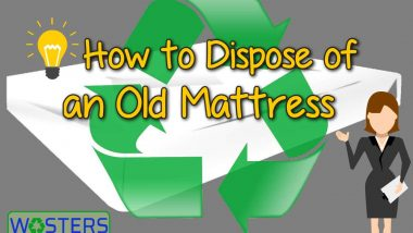 Image is feature image for the article How recycle a mattress.