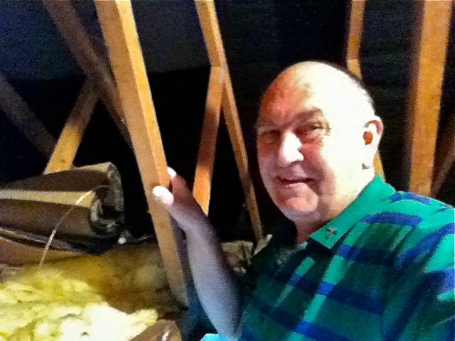 Image shows loft rubbish cleared.