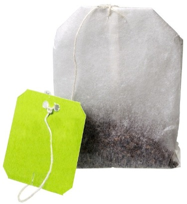 Image shows compostable tea bag - not a plastic tea bag.