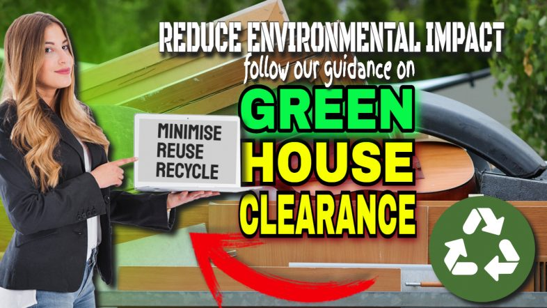 """Image text: """"Green house clearance""""."""