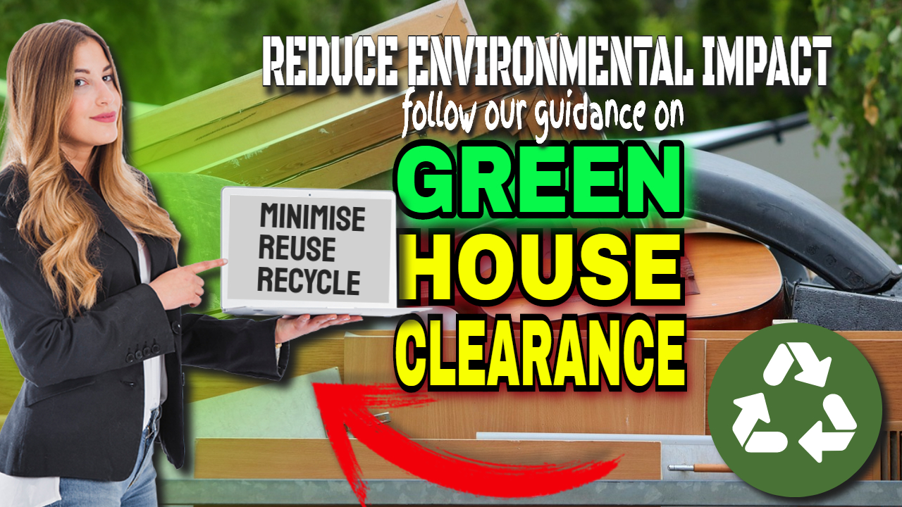 "Image text: ""Green house clearance""."