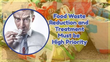 """Image text: """"Food waste reduction must be high priority""""."""