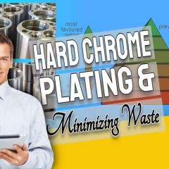 """Featured image with text: """"Hard Chrome Plating and Minimizing Waste""""."""