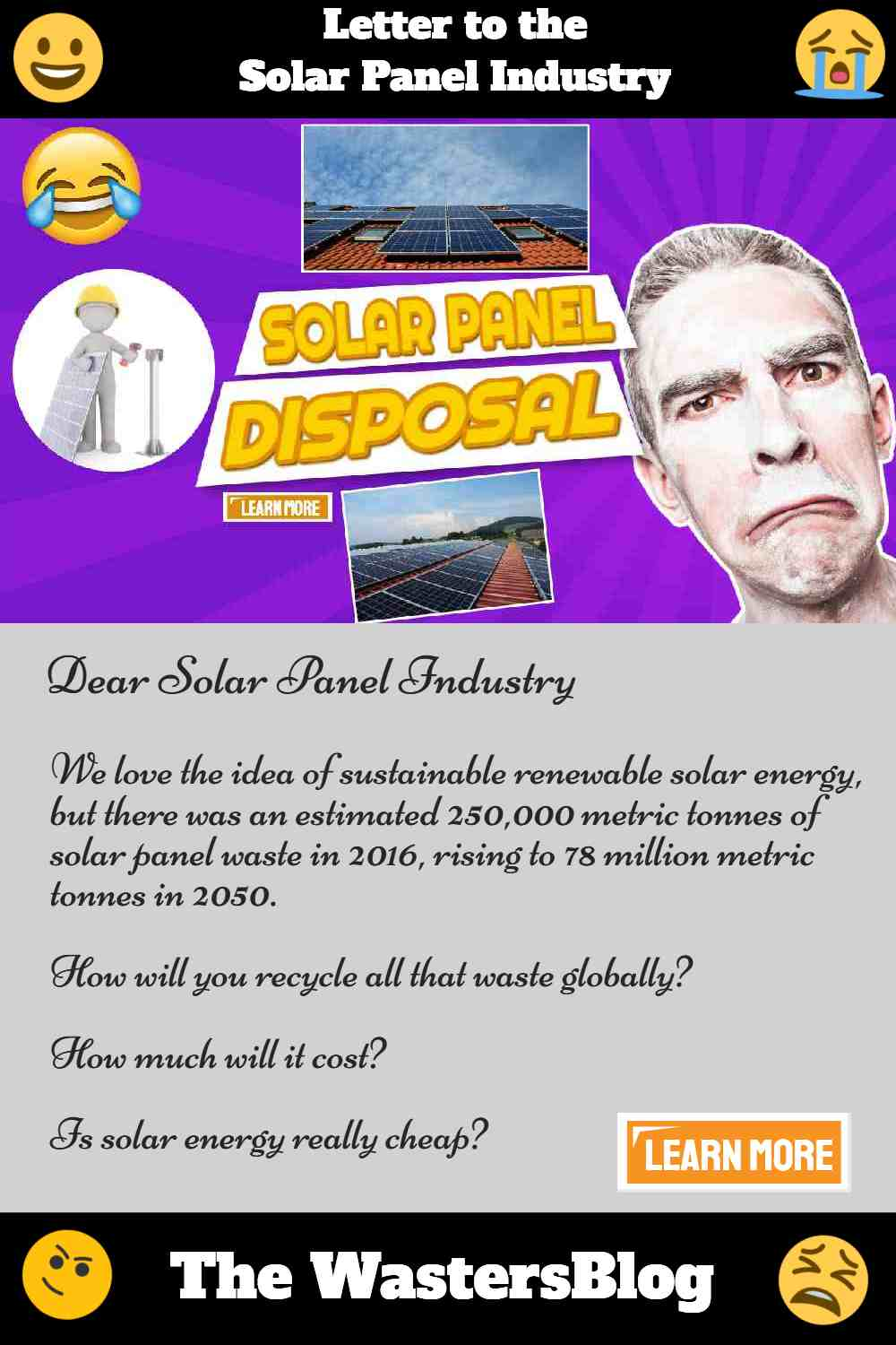 "Image text: ""Solar panel disposal letter"""