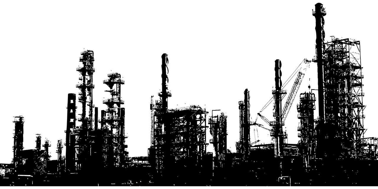 View of a refinery illustrates our article about: Petroleum Quality Analysis