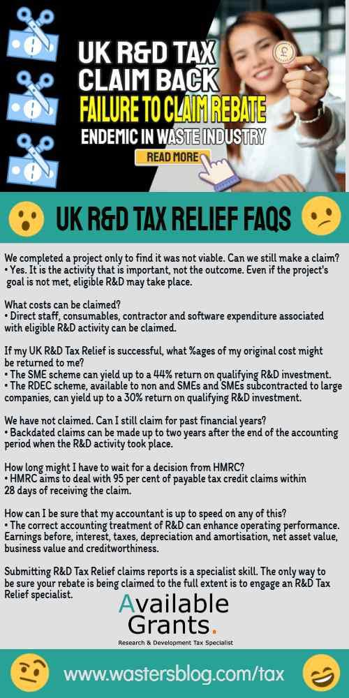 "Image text: ""UK RandD Tax Back claim rebate""."