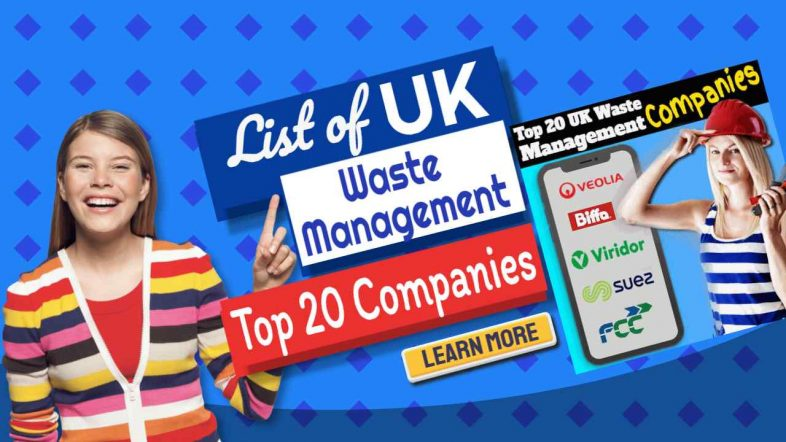 """Image text: """"UK Waste Management Top 20 Companies""""."""
