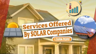 """Image text: """"Common Services Offered By Solar Companies""""."""