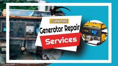 """Image text: """"Generator repair sevices""""."""