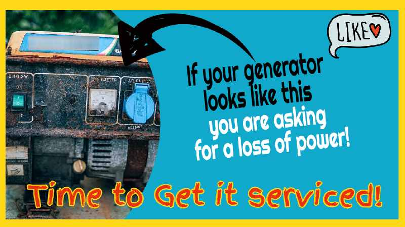 """Image text: """"Time for a generator service!"""""""